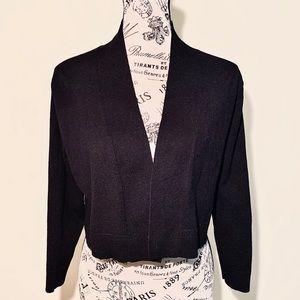 Calvin Klein Black 3/4 Sleeved Open Sweater NWOT